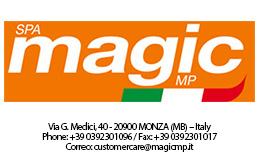 MAGIC logo con direccion